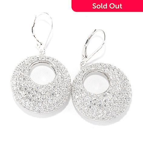 126-371 - Sonia Bitton for Brilliante® Platinum Embraced™ 4.46 DEW Circle Drop Earrings