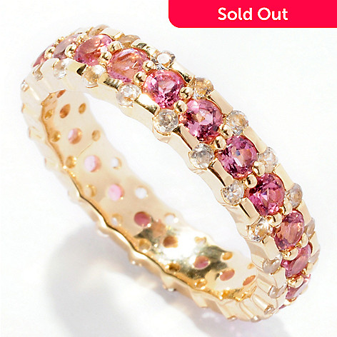 126-392 - Gem Treasures 14K Gold 2.54ctw Gemstone Band Ring