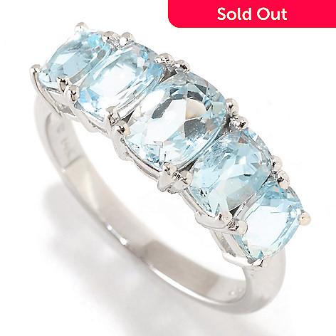 126-404 - Gem Treasures 14K White Gold 2.38ctw Aquamarine Five-Stone Ring