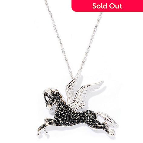 126-409 - Gem Treasures® Sterling Silver 1.36ctw Gemstone ''Pegasus'' Pendant w/ 18'' Chain