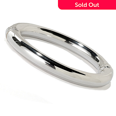 126-439 - SempreSilver™ Polished Hinged Bangle Bracelet