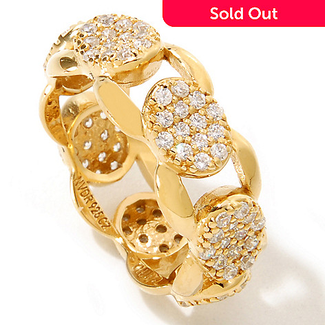 126-461 - Sonia Bitton Pave Set Simulated Diamond Link Ring