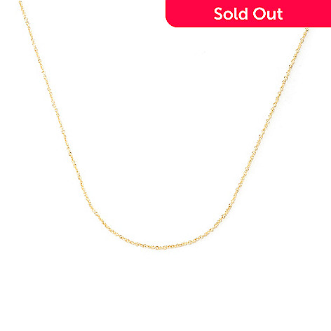 126-462 - Viale18K® Italian Gold Rolo Chain Necklace