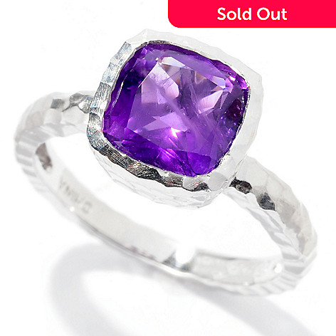 126-475 - Gem Insider™ Sterling Silver 1.76ctw Cushion Cut Gemstone Ring