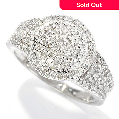 126-488 - Diamond Treasures® Sterling Silver 0.51ctw Diamond Dome Round Band Ring