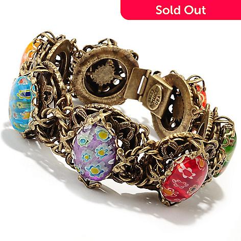 126-524 - Sweet Romance™ 7.5'' Gold-tone Candy Glass Link Bracelet