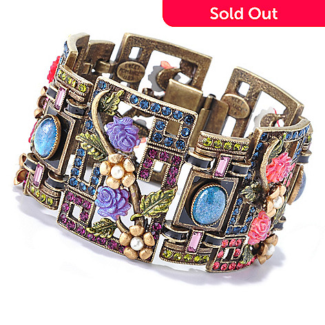 126-534 - Sweet Romance™ 7.25'' Chinese Rose Screen Geometric Bracelet