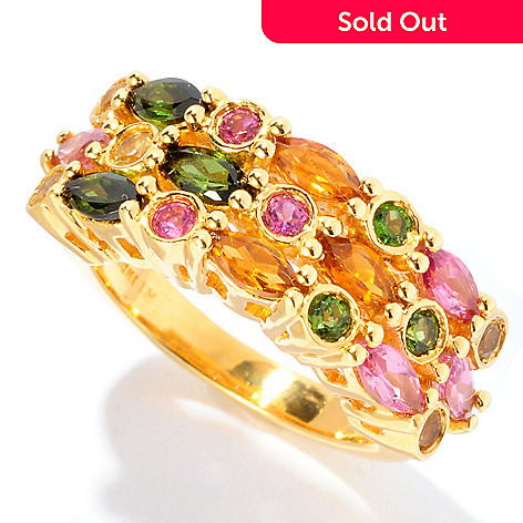 126-570 - NYC II 1.62ctw Multi Shape & Multi Color Tourmaline Ring