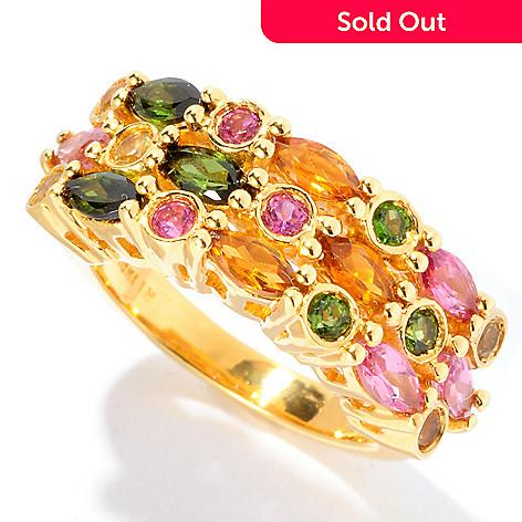 126-570 - NYC II 1.62ctw Multi Shape & Multi Color Tourmaline Ring