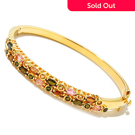 126-571 - NYC II 1.62ctw Multi Shape & Multi Color Tourmaline Bangle Bracelet