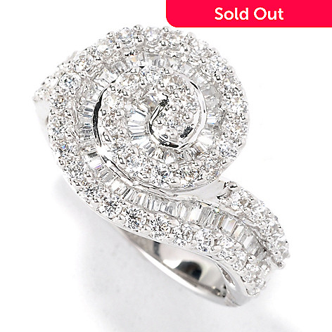 126-578 - Brilliante® Platinum Embraced™ 1.31 DEW Simulated Diamond Swirl Ring