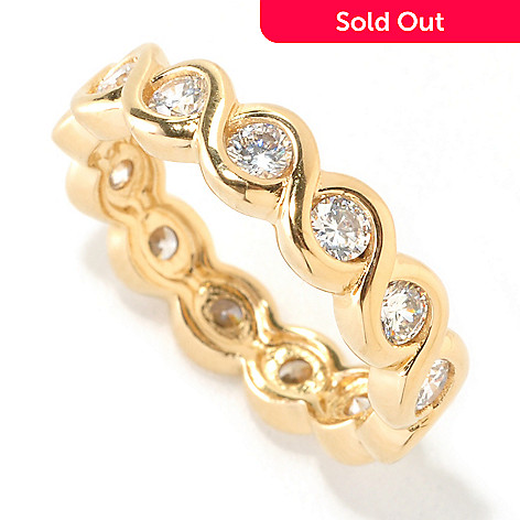 126-594 - Désoro™ Gold Embraced™ Brilliante® 1.04 DEW Round Cut Twisted Ring