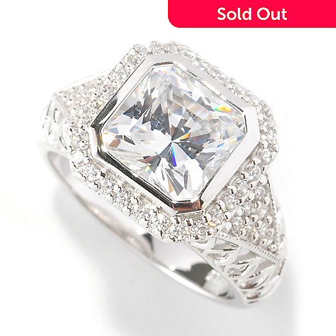 126-605 - Brilliante® Platinum Embraced™ 3.00 DEW Simulated Diamond Openwork Ring