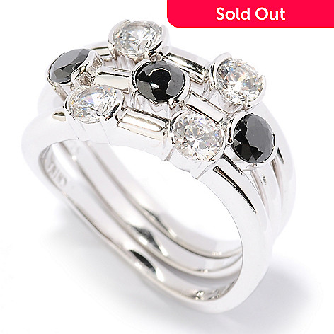 126-607 - Brilliante® Platinum Embraced™ 1.19 DEW Simulated Diamond Stack Rings