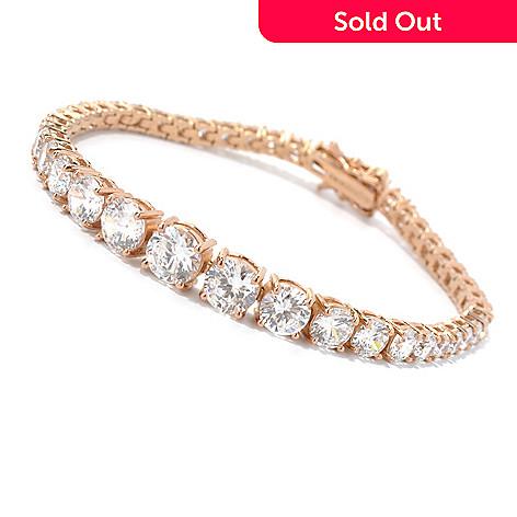 126-617 - Brilliante® Round Cut Simulated Diamond Graduated Tennis Bracelet
