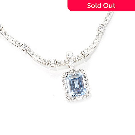 126-618 - Brilliante® Platinum Embraced™ Simulated Diamond Halo Pendant
