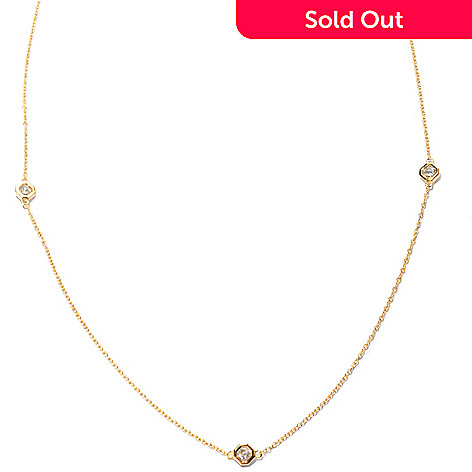 "126-624 - Brilliante® 36"" 4.27 DEW Asscher Cut Simulated Diamond Station Necklace"