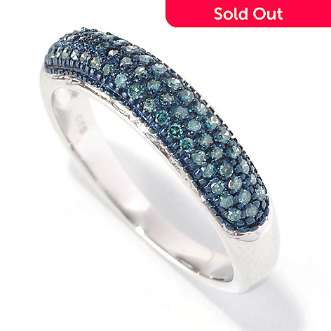 126-630 - Diamond Treasures® Sterling Silver 0.25ctw Diamond Stack Ring