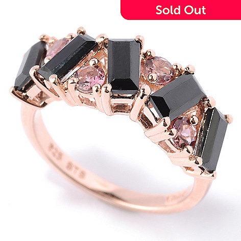 126-632 - NYC II Black Spinel & Exotic Gemstone Band Ring