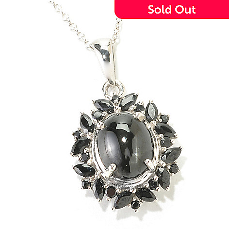 126-633 - NYC II™ 5.13ctw Black Star Diopside & Black Spinel Pendant w/ Chain