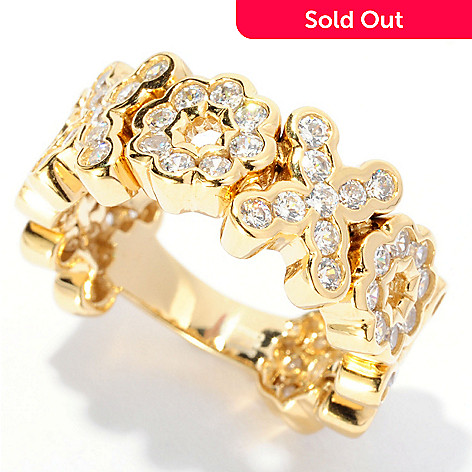 126-645 - Sonia Bitton 1.44 DEW Bezel Set Simulated Diamond ''XOXO'' Dream Fit™ Ring
