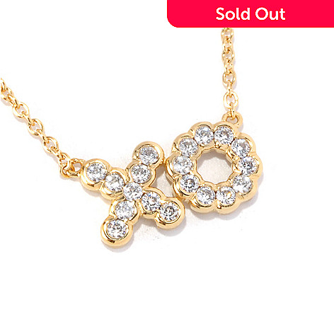 "126-686 - Sonia Bitton for Brilliante® 18"" Round Cut ""XO"" Necklace"