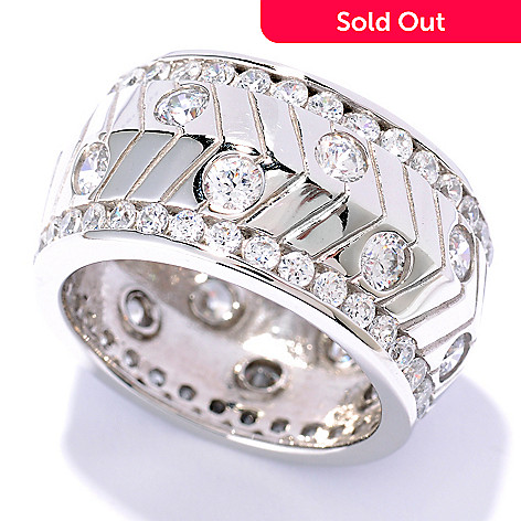 126-687 - Sonia Bitton 3.12 DEW Round Cut Simulated Diamond Eternity Band Ring