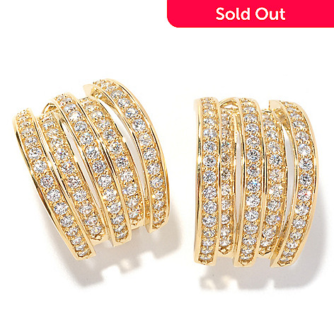 126-695 - Sonia Bitton 2.32 DEW Multi-Level Simulated Diamond Earrings