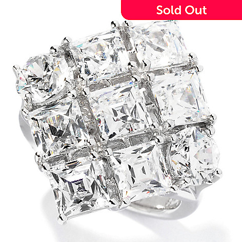 126-702 - TYCOON for Brilliante® Platinum Embraced™ 6.31 DEW Diamond Shaped Ring