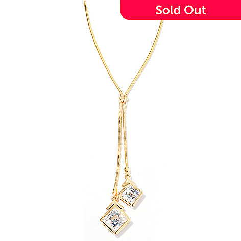 126-720 - TYCOON 18'' 3.22 DEW Square Cut Simulated Diamond Drop Necklace