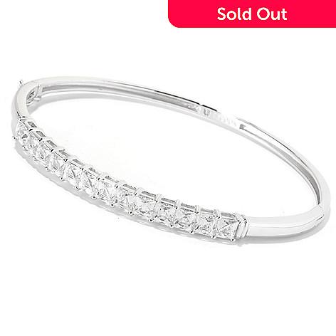 126-723 - TYCOON Platinum Embraced™ 7.30 DEW Simulated Diamond Hinged Bangle Bracelet