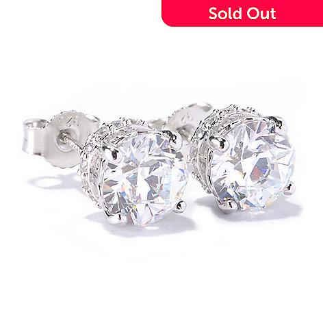 126-724 - TYCOON 3.68 DEW Round TYCOON CUT Simulated Diamond Stud Earrings