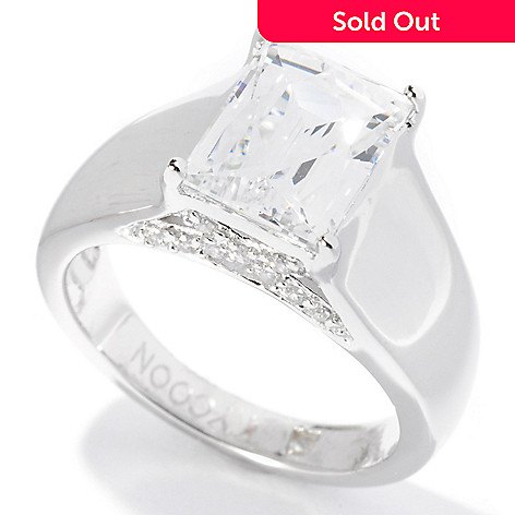 126-726 - TYCOON Platinum Embraced™ 2.82 DEW Simulated Diamond Tycoon Cut Ring