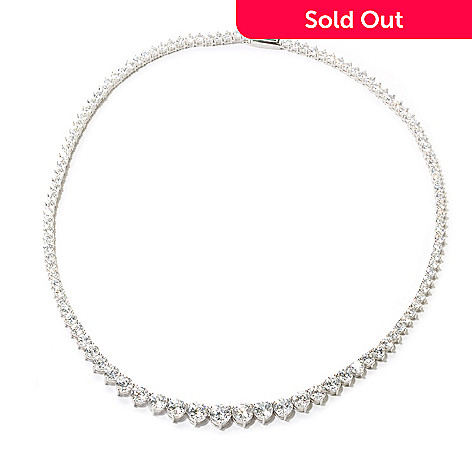 126-770 - Brilliante® 100-Facet Round Simulated Diamond Graduated Tennis Necklace