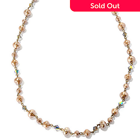 126-880 - Sweet Romance 51'' Glass & Crystal Baroque-Inspired Necklace