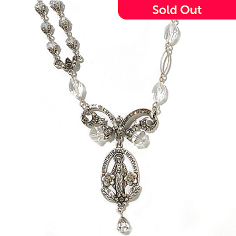 126-886 - Sweet Romance™ 19'' Vintage Inspired ''Madonna of Miracles'' Necklace