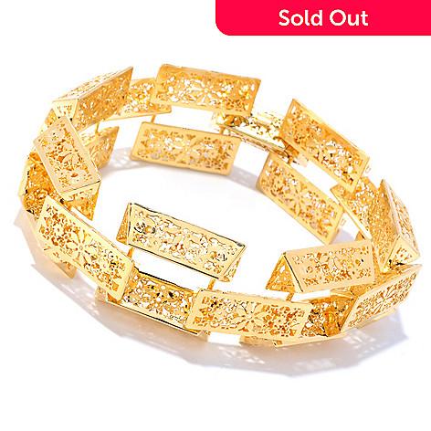 126-892 - Italian Designs with Stefano 14K Gold Ricami Link Bracelet