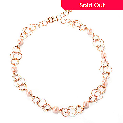 126-898 - Italian Designs with Stefano 14K Rose Gold 18'' 8-8.5mm Cultured Pearl Necklace