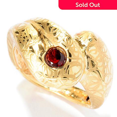 126-922 - Italian Designs with Stefano 14K ''Oro Vita'' 1.10ctw Garnet Accenti Ring