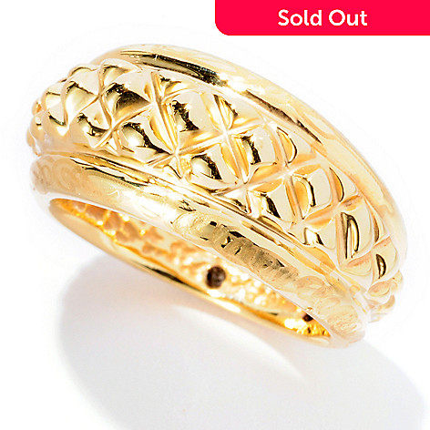126-924 - Italian Designs with Stefano 14K ''Oro Vita'' Electroform Piramidi Ring