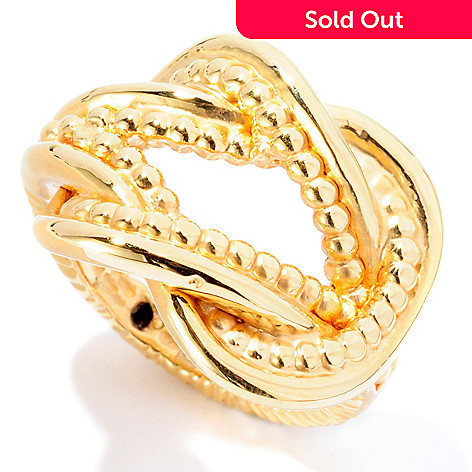 126-926 - Italian Designs with Stefano 14K ''Oro Vita'' Electroform Savoia Ring