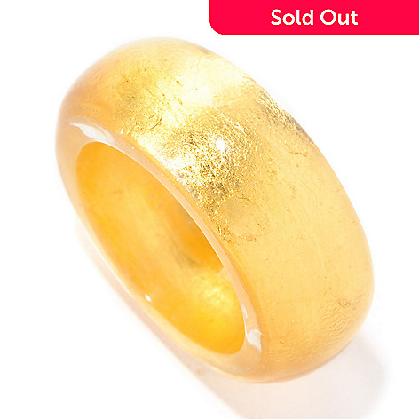 126-938 - Stefano Oro 24K ''Oro Puro'' Gold Foil Band Ring
