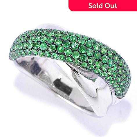 126-953 -  EFFY Sterling Silver 1.79ctw Tsavorite Crossover ''Balissima'' Ring