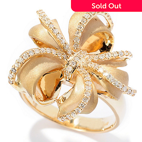 126-968 - EFFY 14K Gold 0.35ctw Diamond Multi Bow Ring