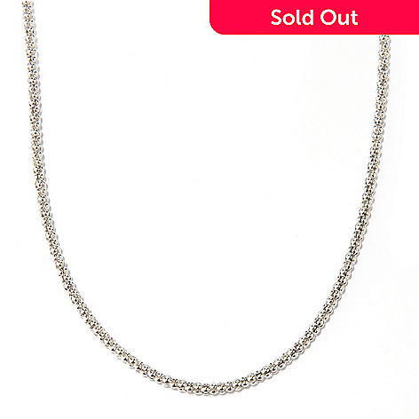 127-046 - Sterling Silver 18'' Popcorn Magnetic Clasp Chain