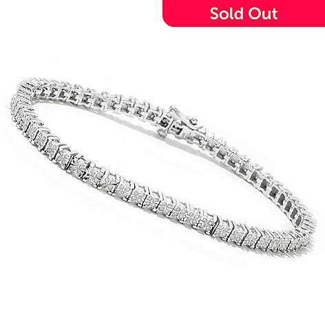 127-084 - Diamond Treasures® Sterling Silver 1.00ctw Diamond Bracelet