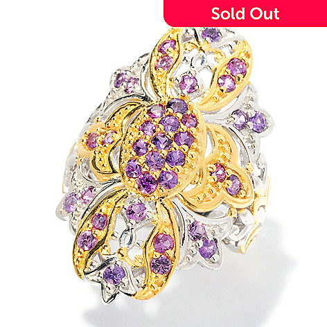 127-088 - Gems en Vogue 1.85ctw Purple Sapphire Ring