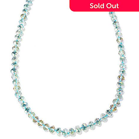 127-098 - Sweet Romance 58'' Glass Bead ''Waterfall'' Necklace