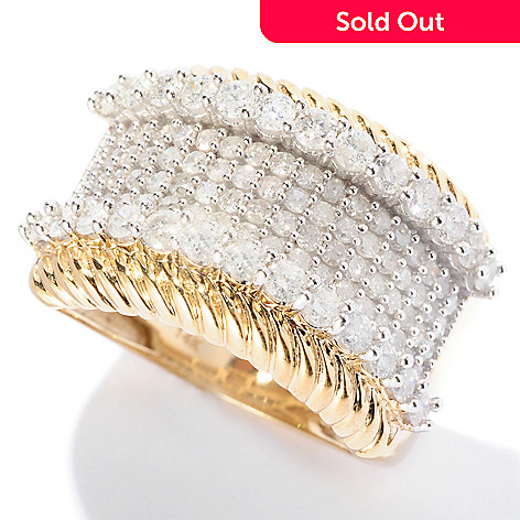 127-132 - Diamond Treasures 14K Gold 1.50ctw Pave Set Diamond Ring