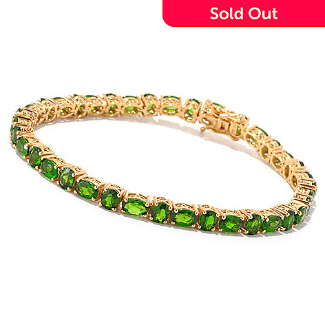127-161 - NYC II® 11.84ctw Chrome Diopside Alternating Tennis Bracelet